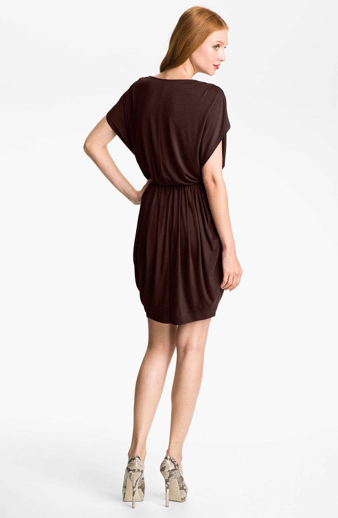 ,                             Faux Wrap Pleated Dress,                             Alternate thumbnail 6, color,                             200