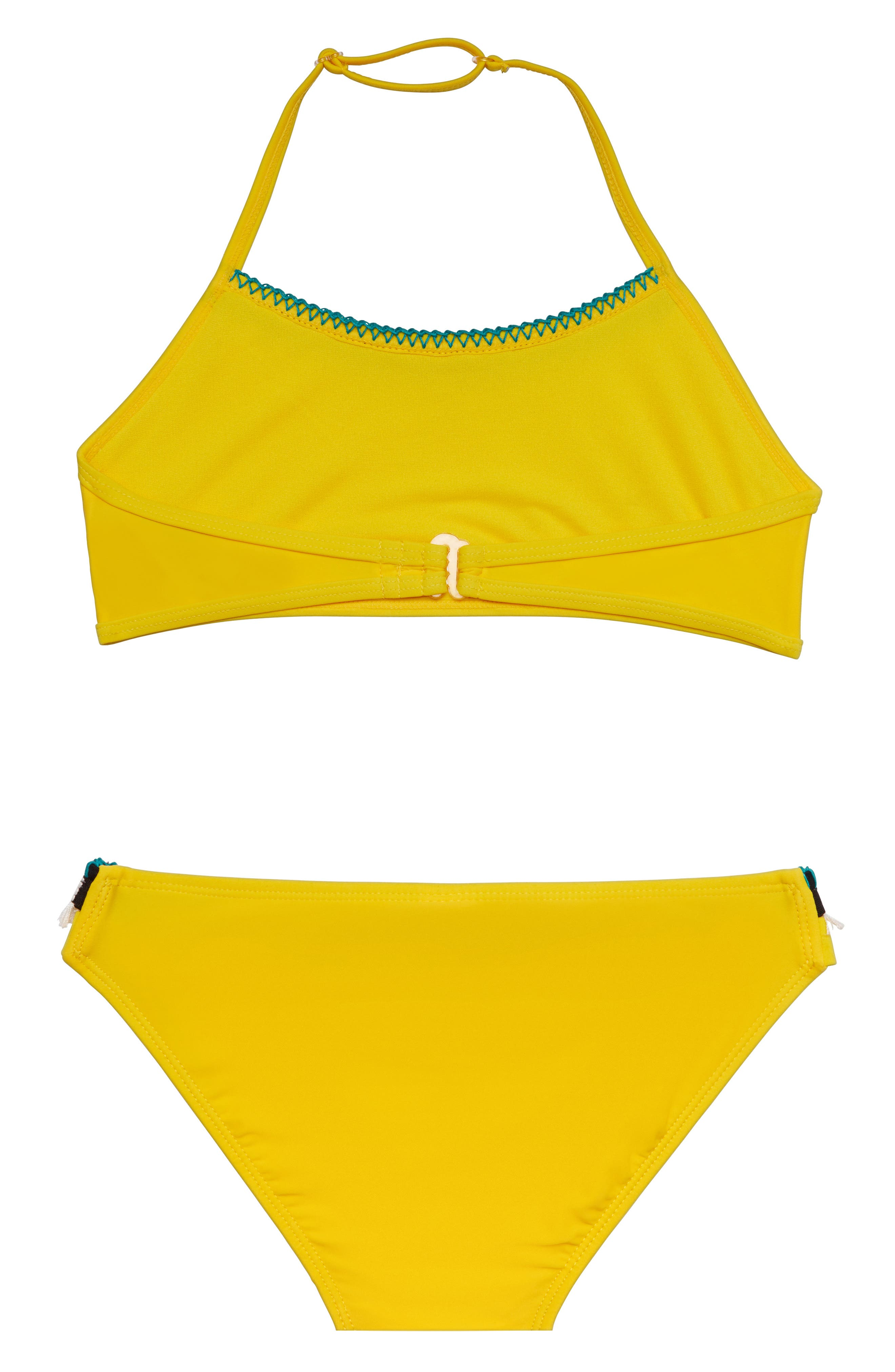 ,                             Tassel Party Two-Piece Swimsuit,                             Alternate thumbnail 2, color,                             YELLOW