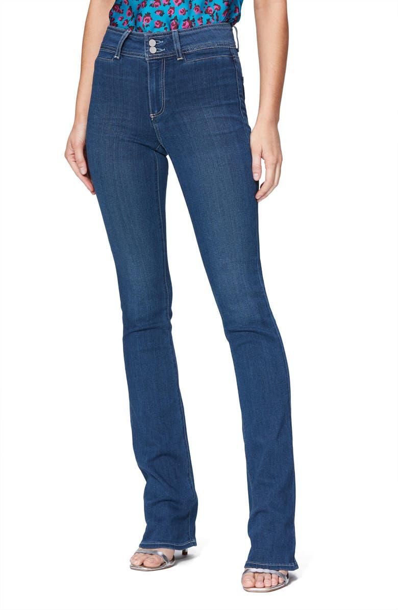 PAIGE Transcend Manhattan High Waist Bootcut Jeans, Main, color, RONAN