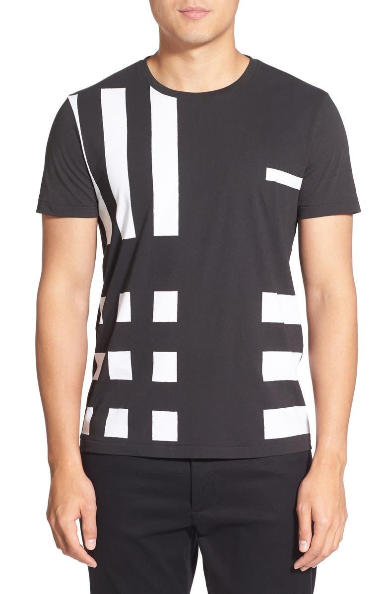 BURBERRY Brit 'Terran' Trim Fit Print Crewneck T-Shirt, Main, color, 001