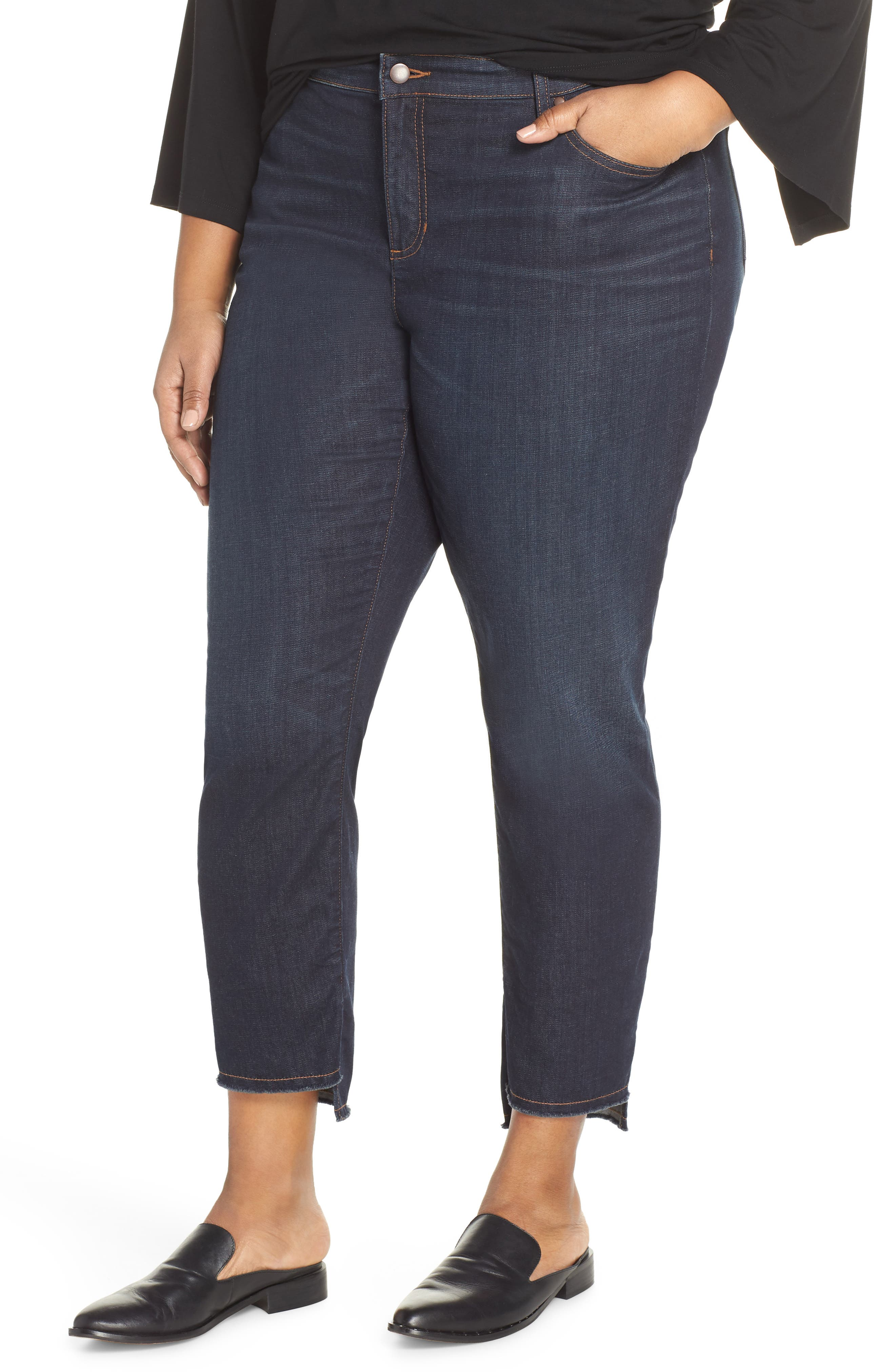 ,                             Fray Step Hem Ankle Skinny Jeans,                             Main thumbnail 8, color,                             483