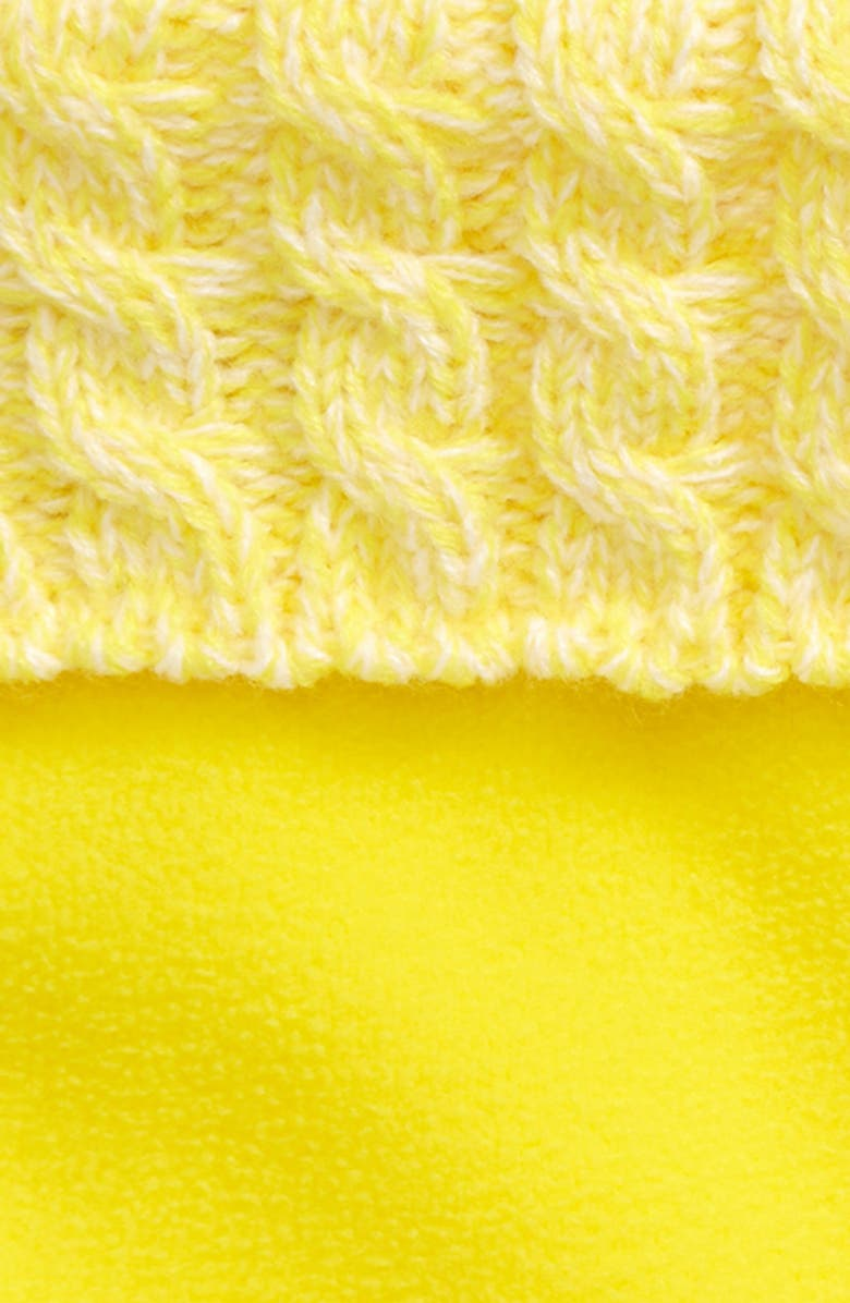 HUNTER Cable Knit Cuff Welly Boot Socks, Main, color, LIGHTENING YELLOW MARL