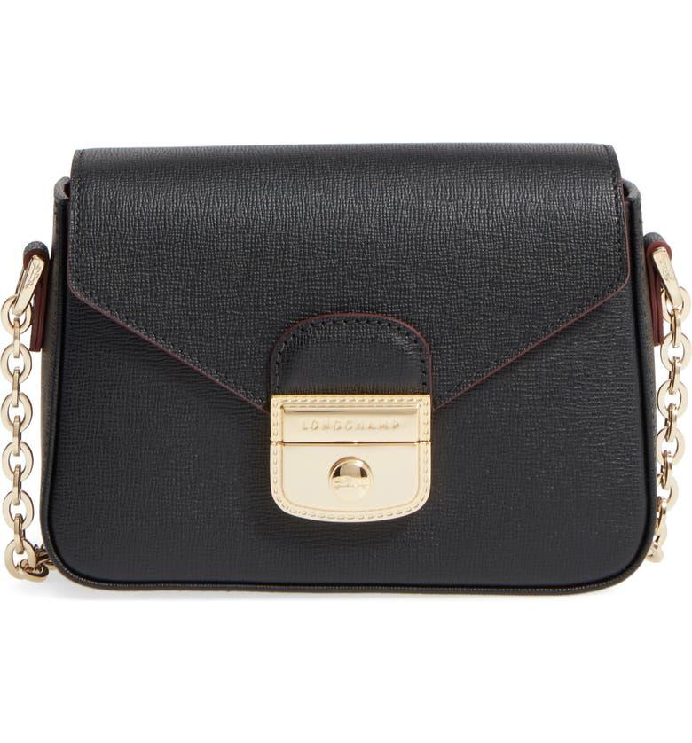 87decadba2f Small Le Pliage Heritage Leather Extra Small Crossbody Bag, Main, color,  BLACK