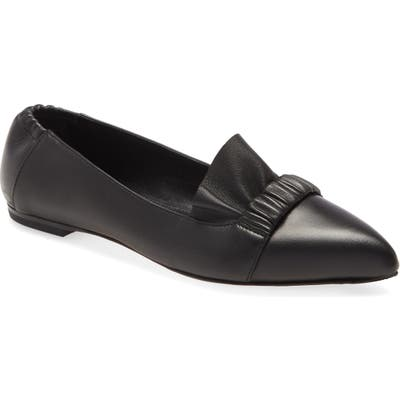 Agl Ruffle Ballet Flat, Black