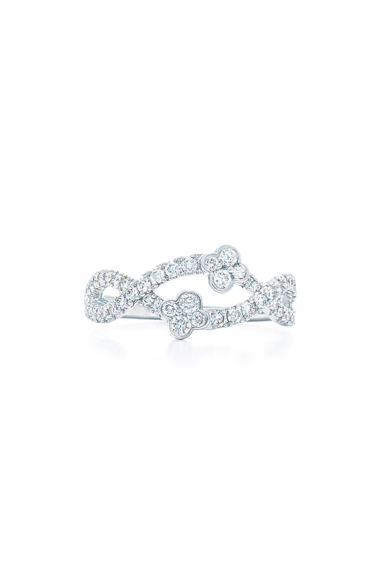 KWIAT Jasmine Diamond Ring, Main, color, WHITE GOLD