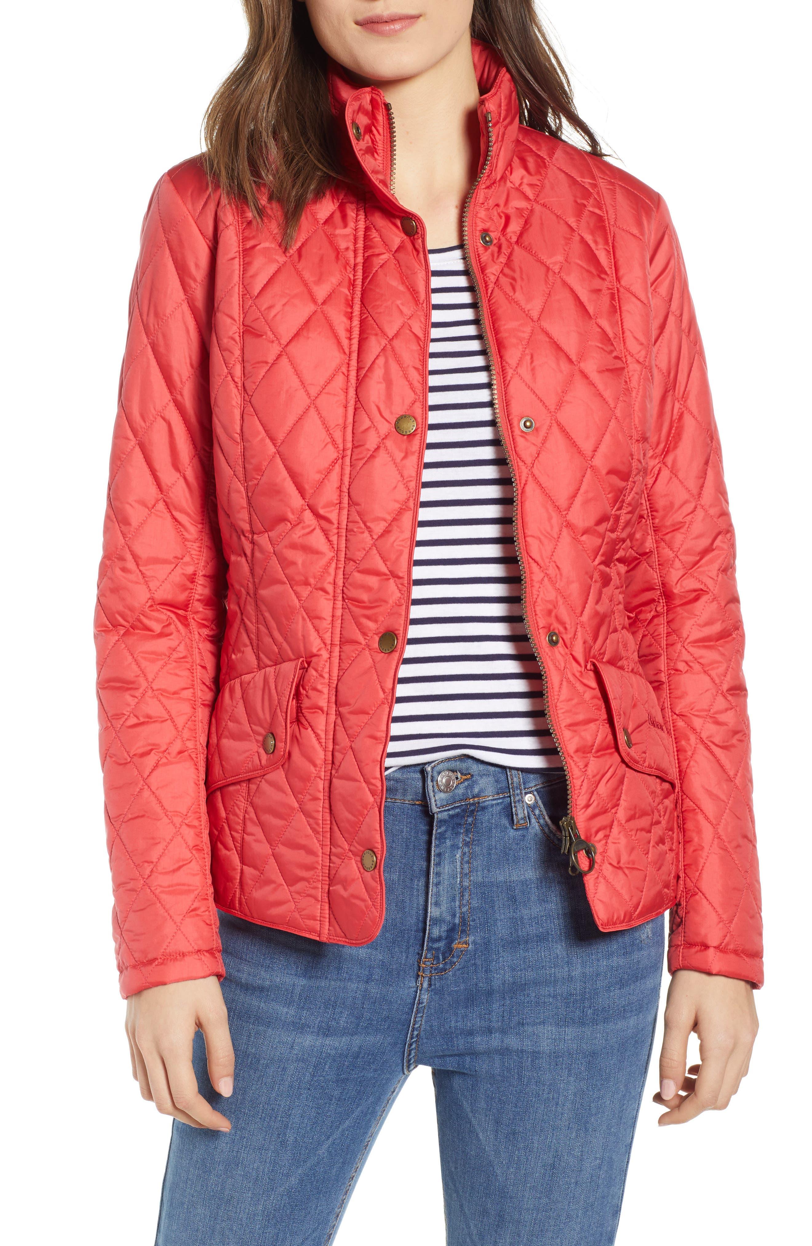 Barbour Cavalry Flyweight Quilt Jacket, 18 UK - Red