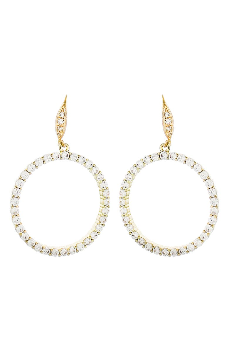 PANACEA Crystal Circle Earrings, Main, color, GOLD