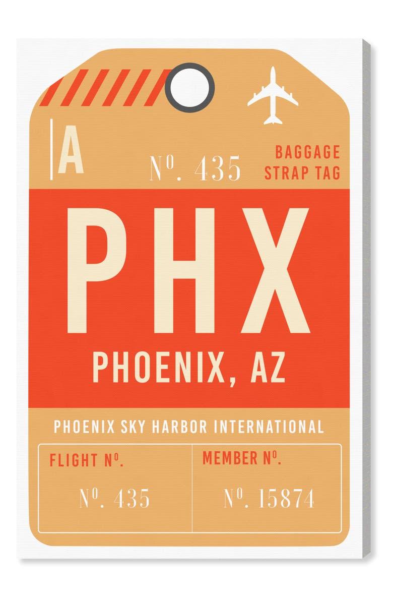 OLIVER GAL Phoenix Luggage Tag Wall Art, Main, color, ORANGE