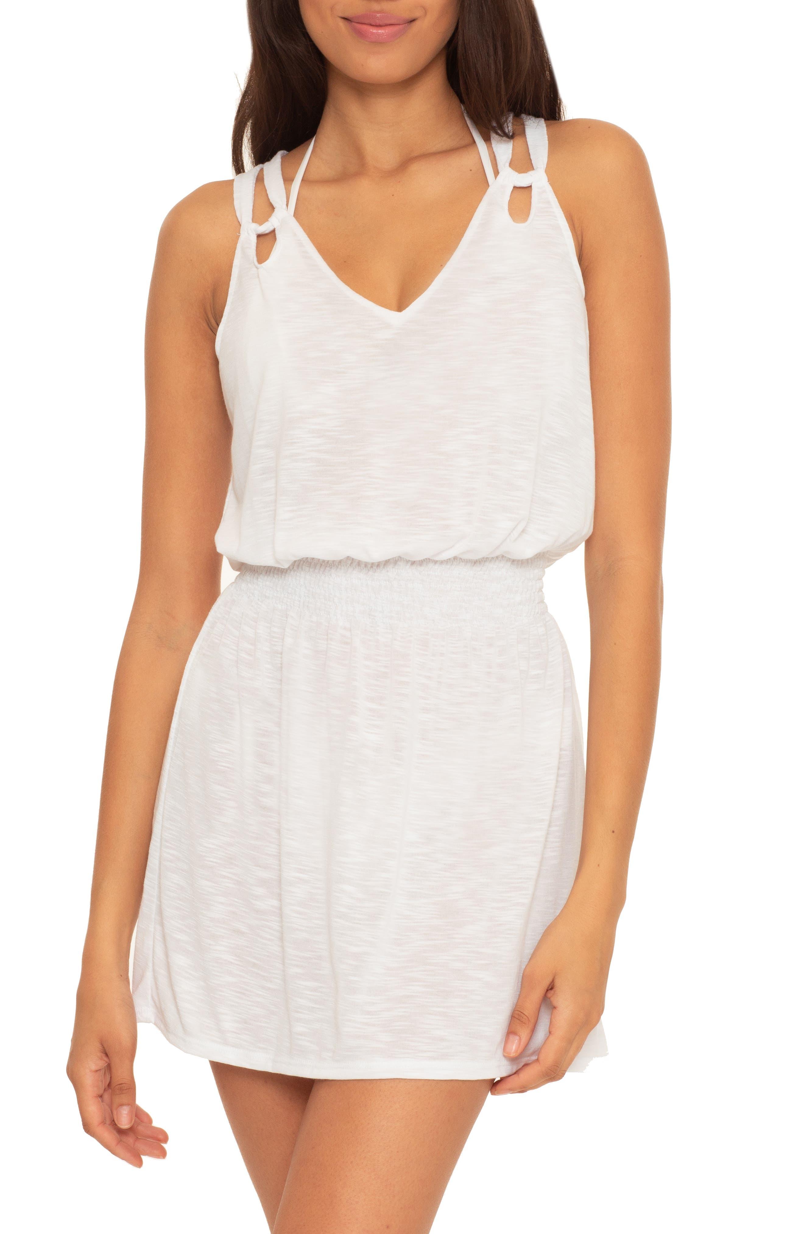 Breezy Basics Slub Jersey Cover-Up Dress