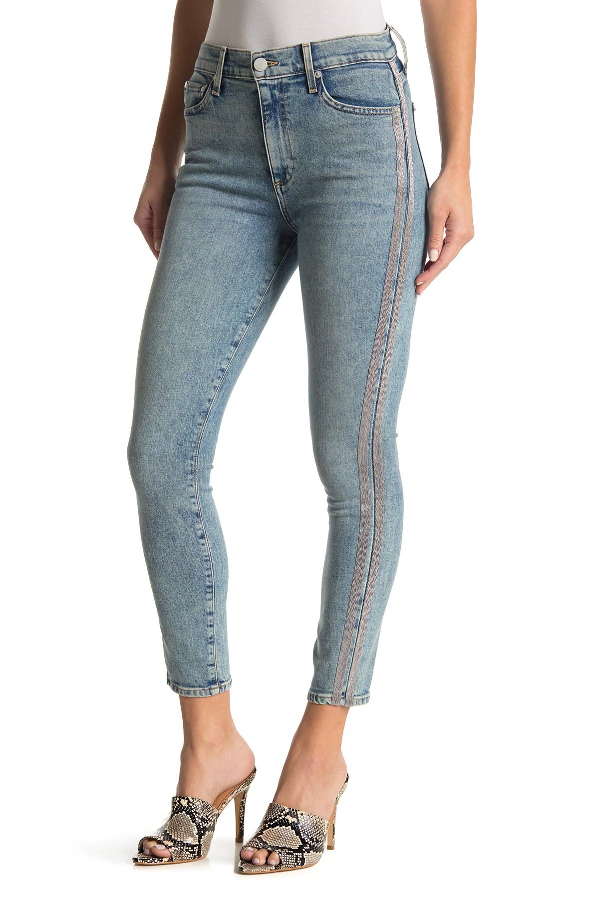 Image of alice + olivia Good High Rise Ankle Skinny Jeans