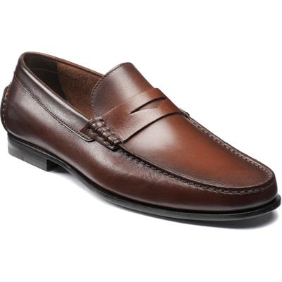 Santoni Ikangia Penny Loafer - Brown