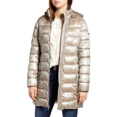 Via Spiga Three-Quarter Packable Puffer Jacket, Ivory