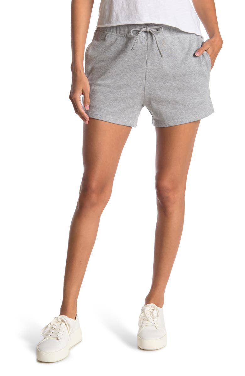 ABOUND Fleece Knit Shorts, Main, color, GREY HEATHER