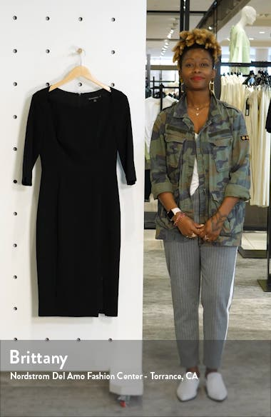 Marissa Zip Slit Sheath Dress, sales video thumbnail