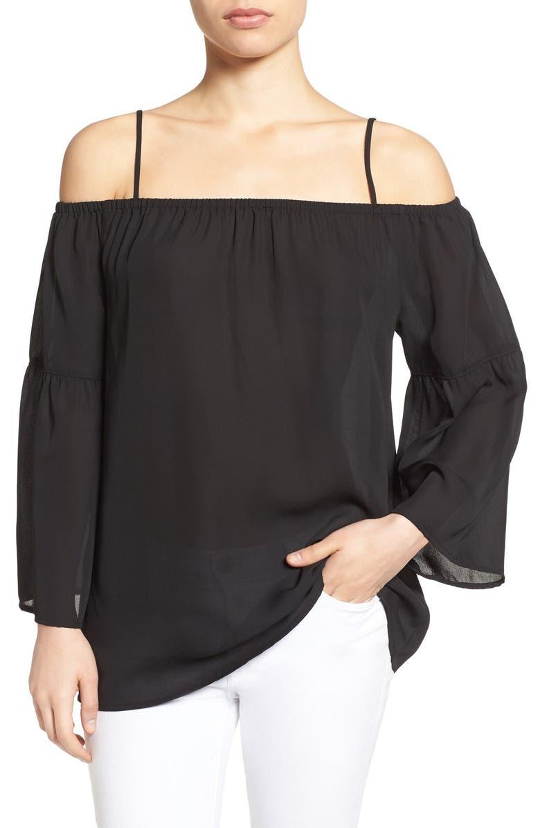 PLEIONE Off the Shoulder Blouse, Main, color, 001
