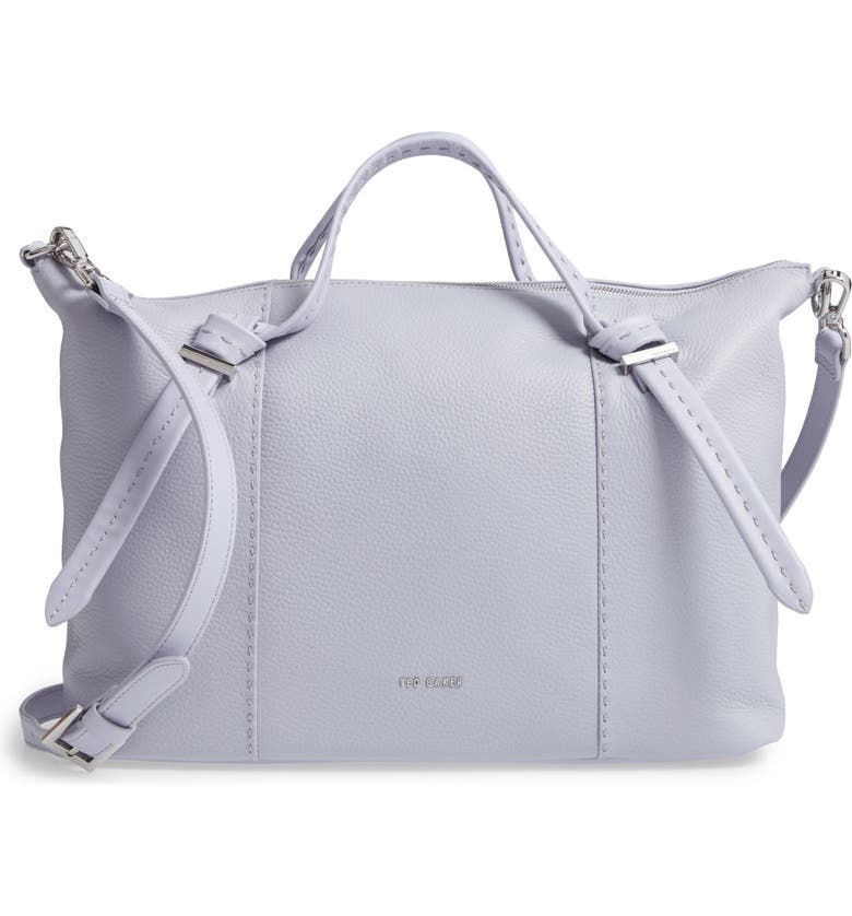 TED BAKER LONDON Oellie Knotted Handle Large Leather Tote, Main, color, 451
