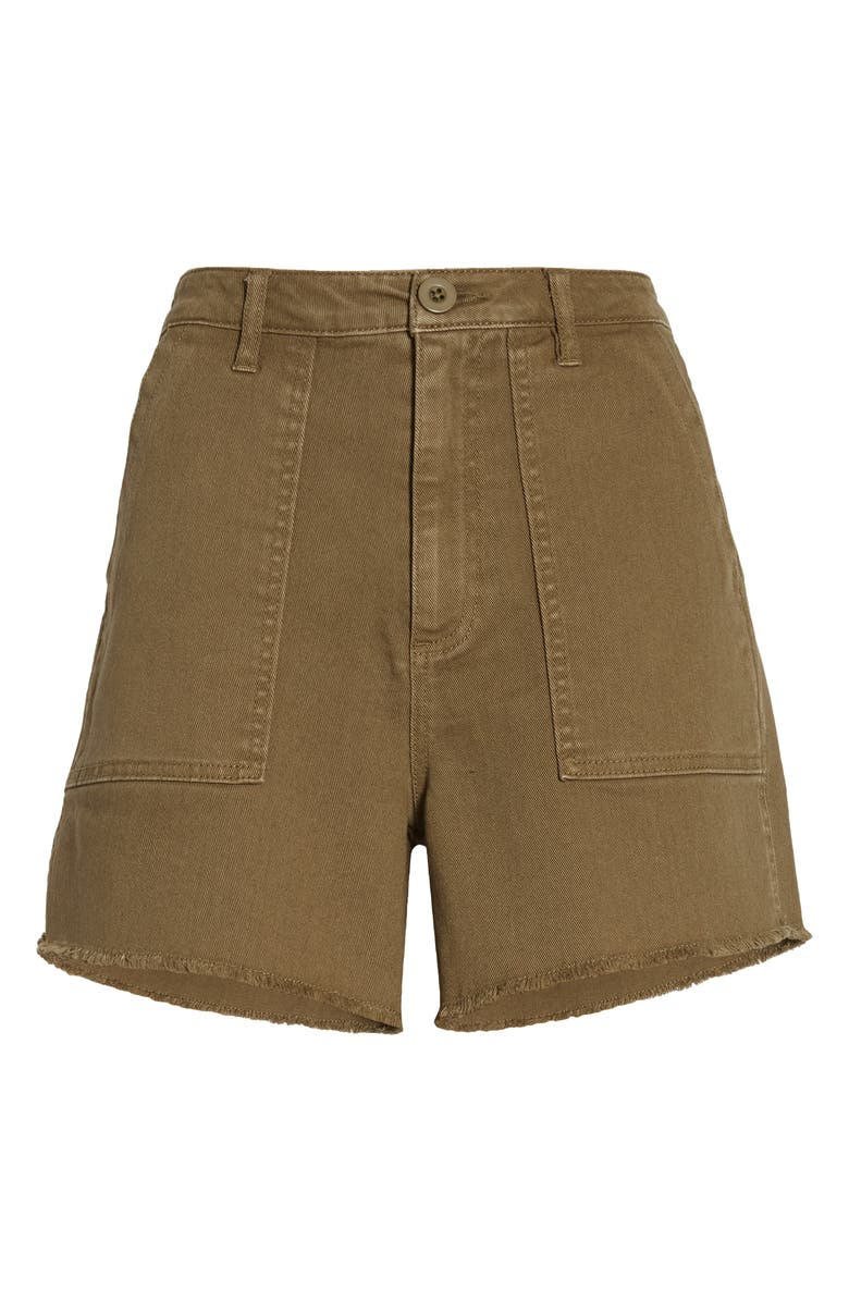 TINSEL Front Pocket Twill Military Shorts, Main, color, MILITARY OLIVE