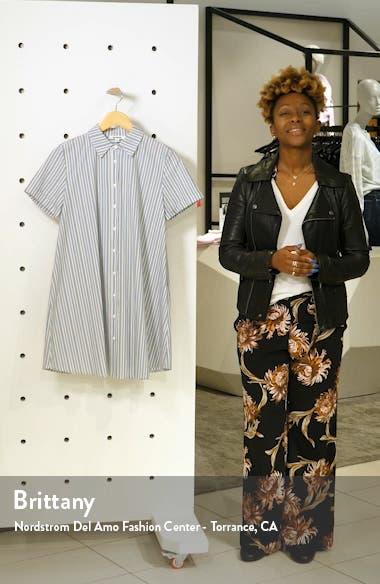 Stripe A Personality Shirtdress, sales video thumbnail