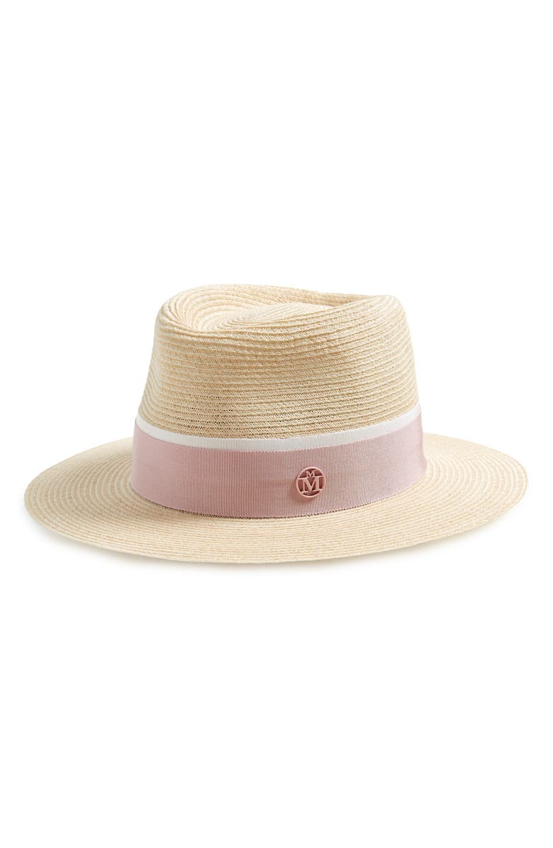 MAISON MICHEL Andre Straw Hat, Main, color, NATURAL PINK