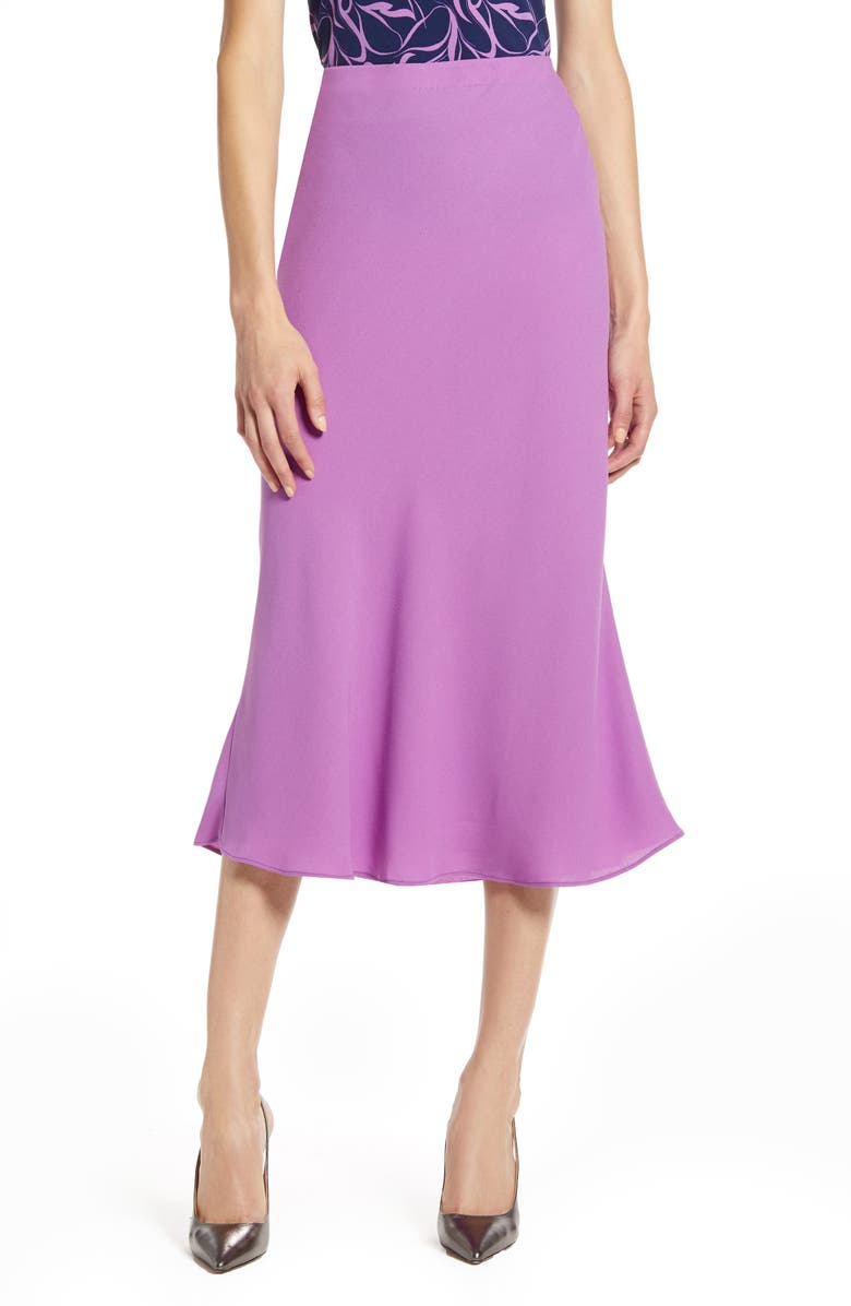 HALOGEN<SUP>®</SUP> Bias Cut A-Line Skirt, Main, color, PURPLE DEWBERRY