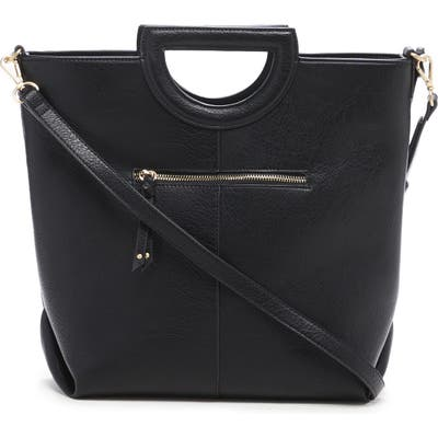 Sole Society Duff Faux Leather Tote - Black