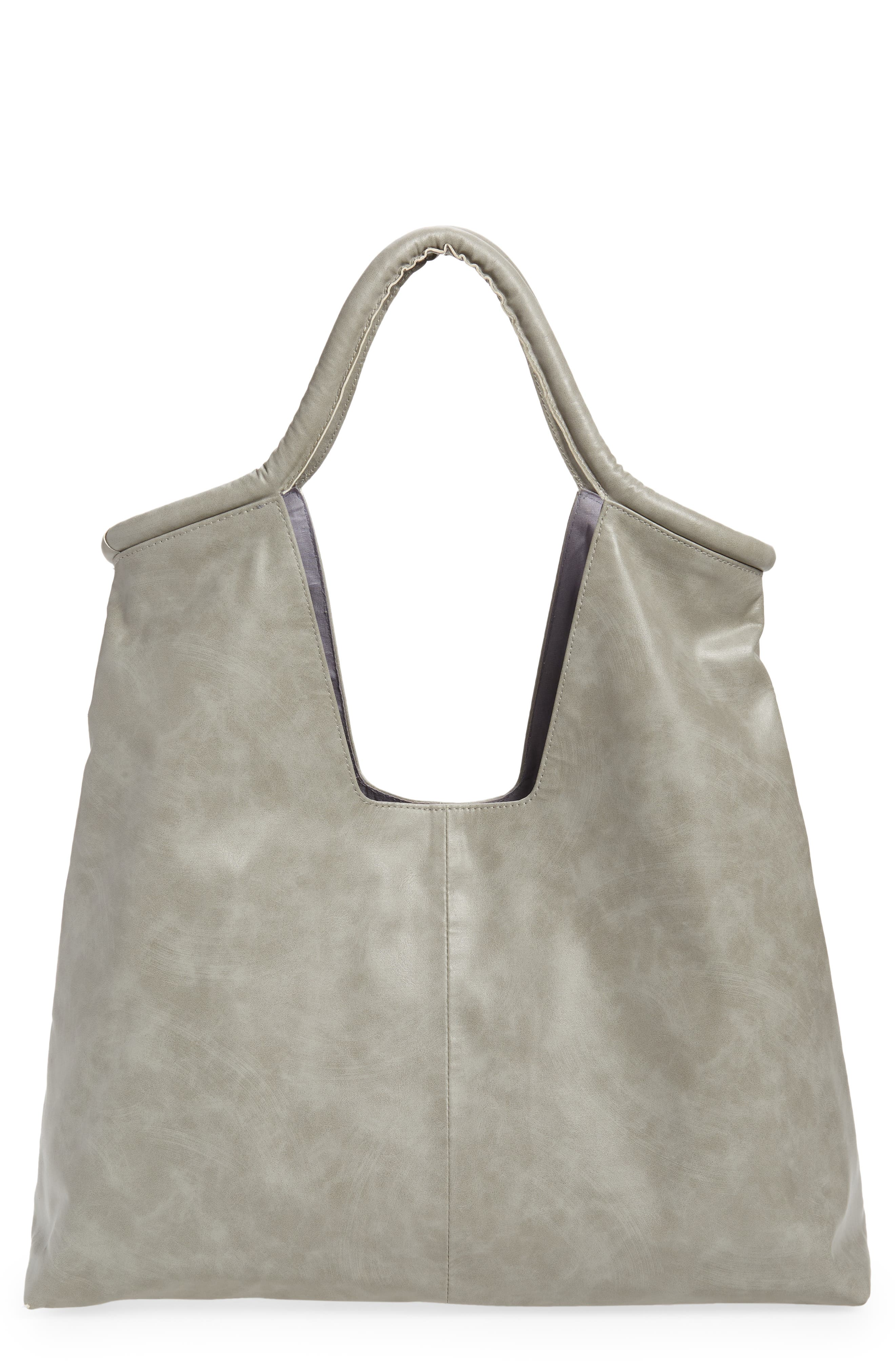 Slim Faux Leather Tote