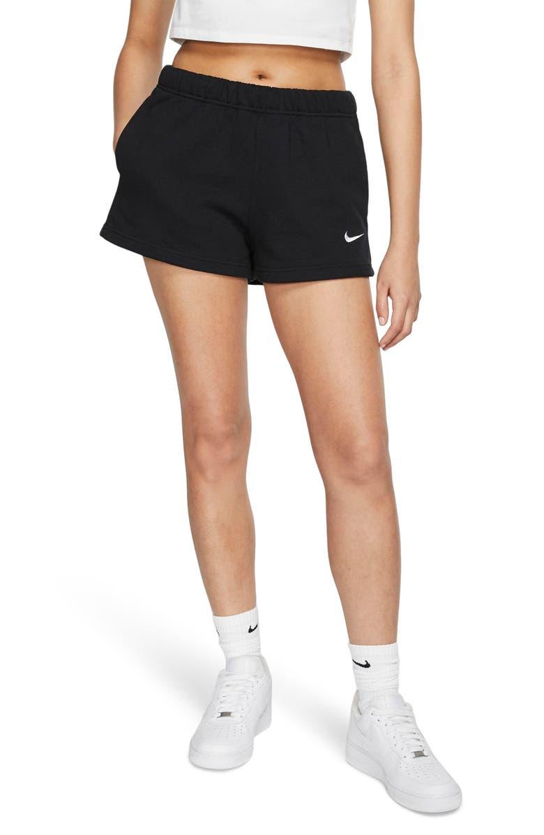 NIKE NikeLab Collection Women's Fleece Shorts, Main, color, BLACK