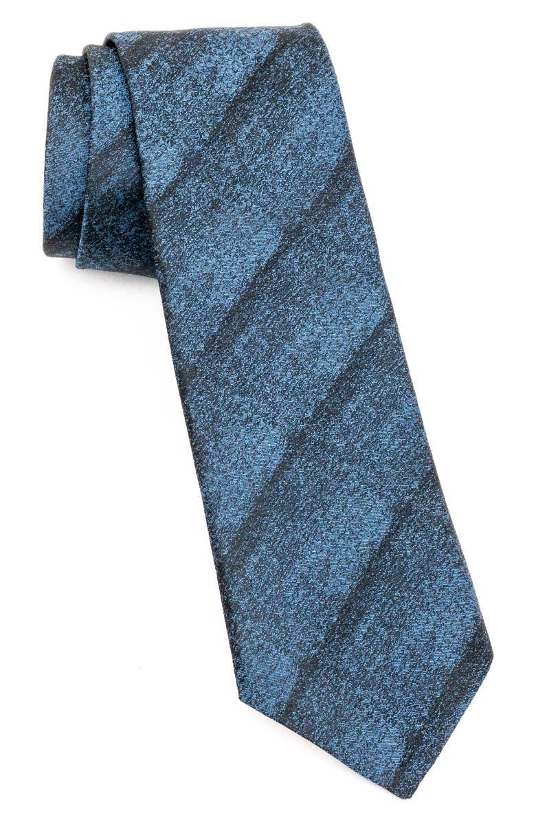 JOHN VARVATOS STAR USA Subtle Stripe Silk Tie, Main, color, INDIGO