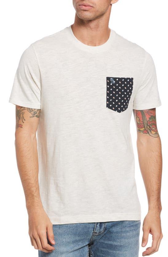 Original Penguin Men's Colorblocked T-shirt In Light Grey Melange