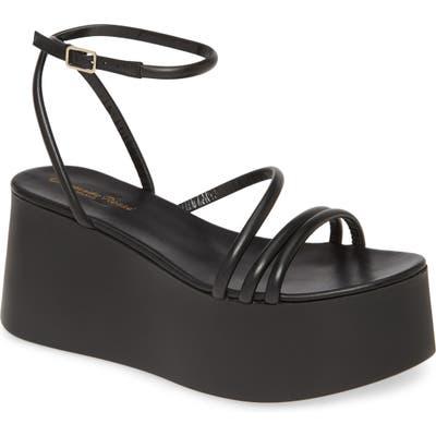 Gianvito Rossi Strappy Platform Sandal, Black