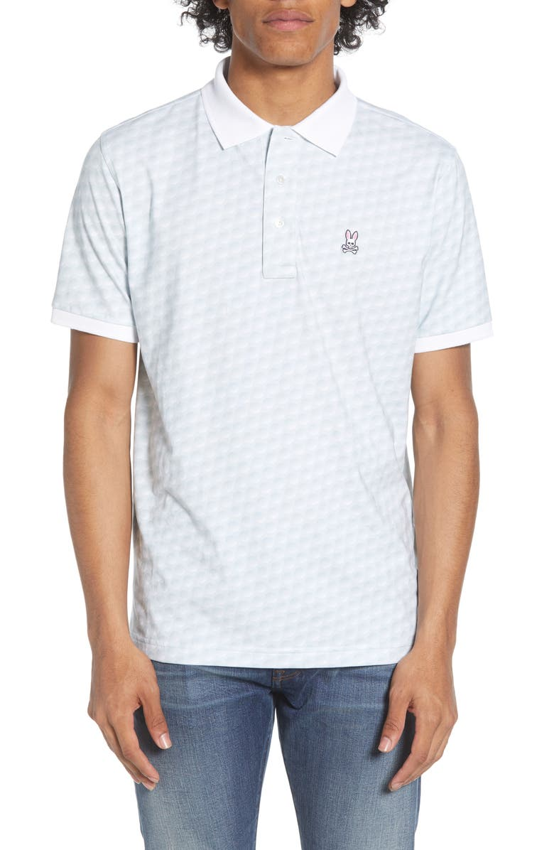 PSYCHO BUNNY Sport Dimples Polo, Main, color, 100
