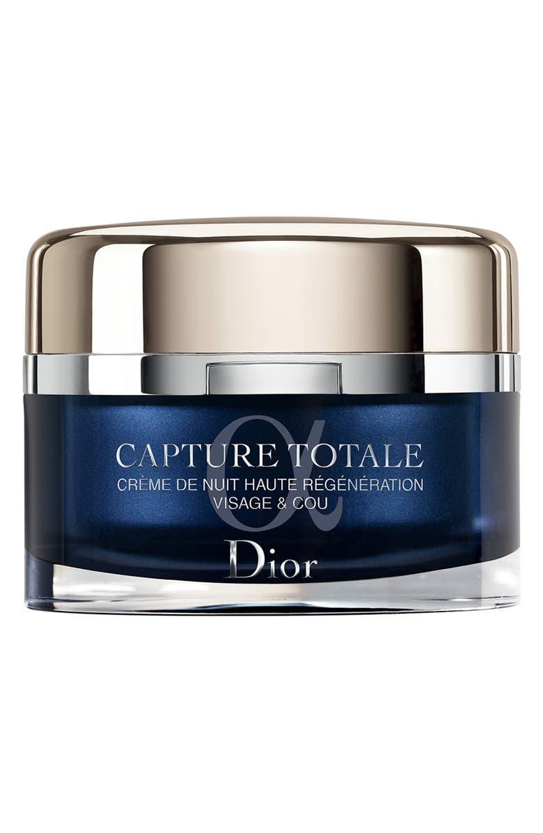 DIOR Capture Totale Intensive Restorative Night Crème for Face & Neck, Main, color, NO COLOR
