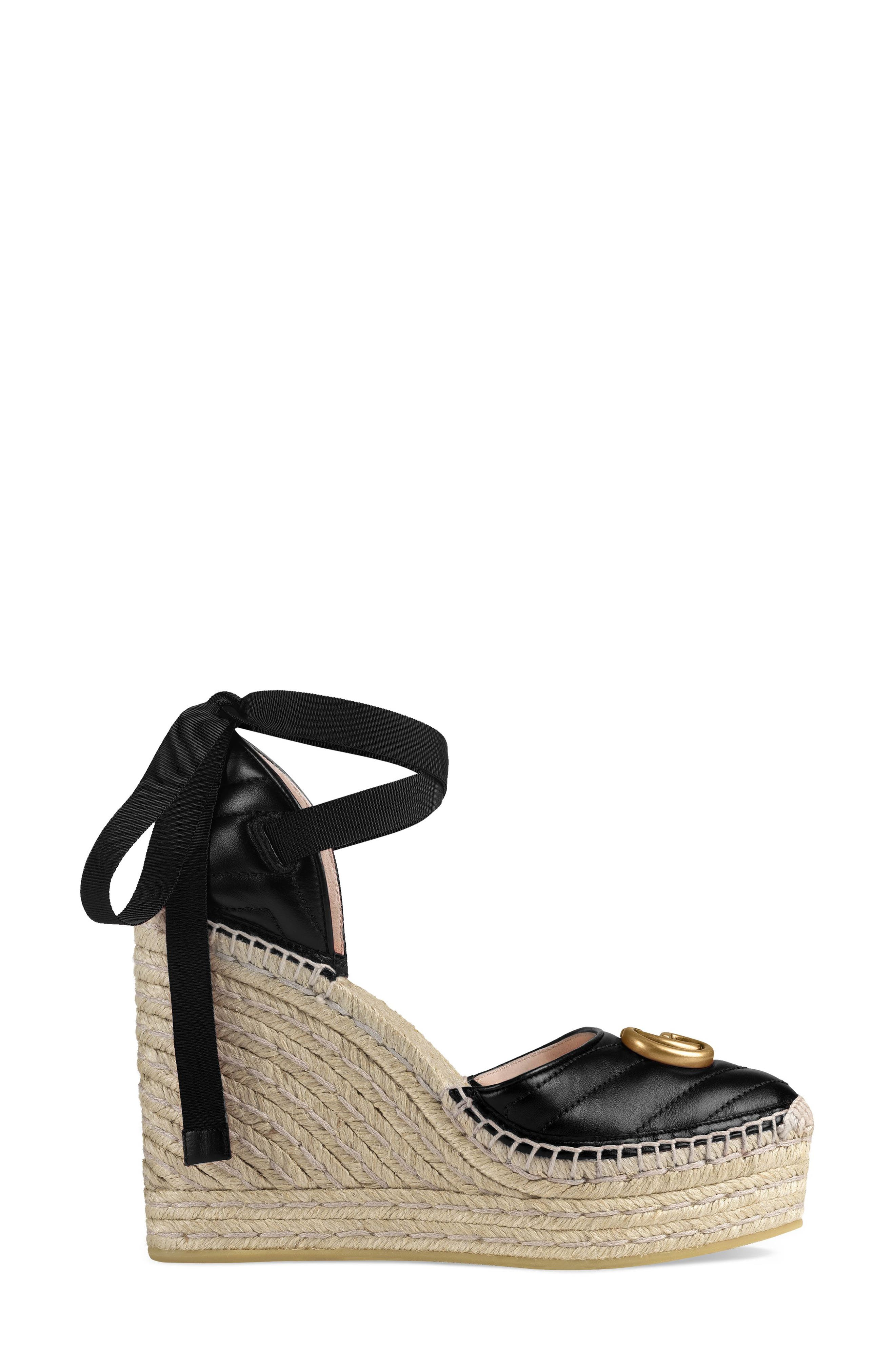 ,                             Palmyra Ankle Tie Espadrille Wedge,                             Alternate thumbnail 2, color,                             BLACK