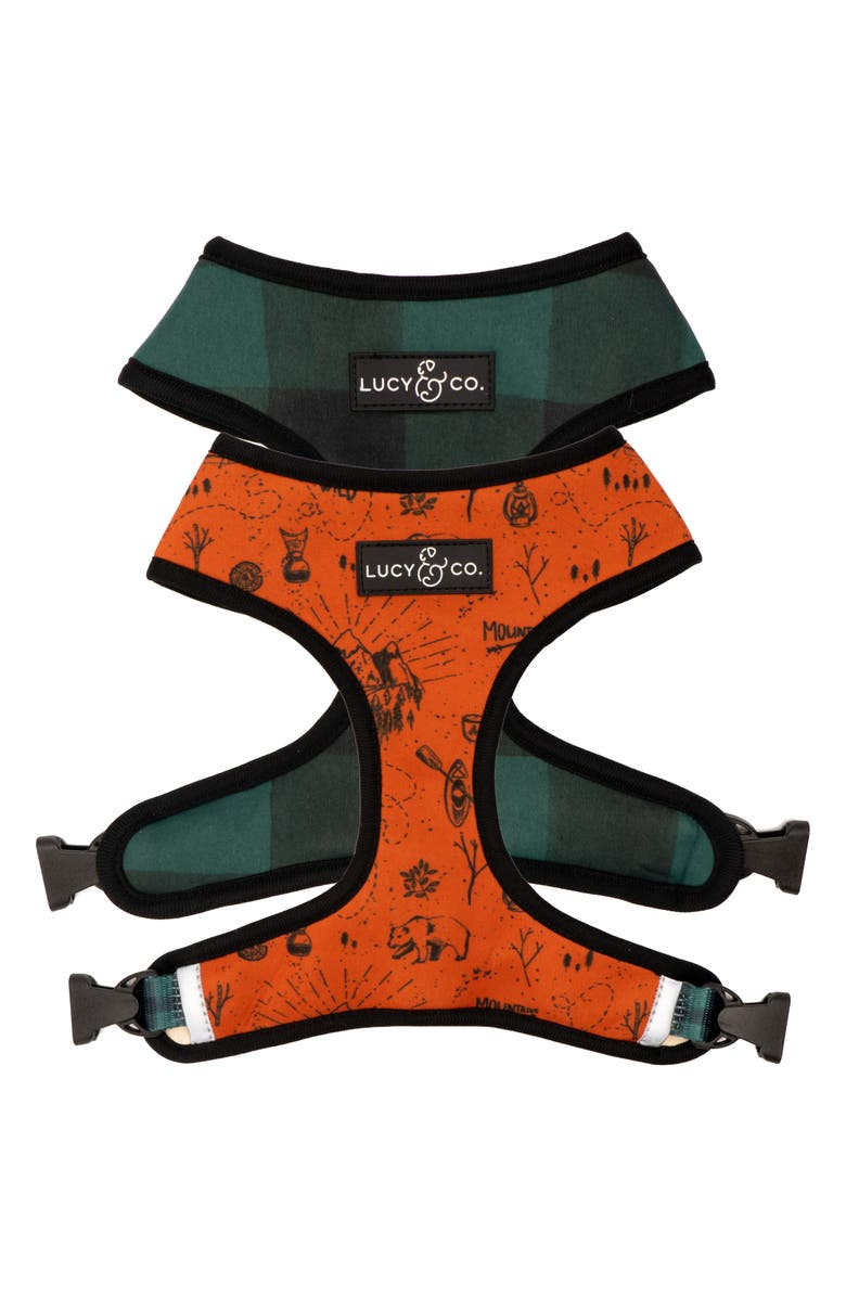 LUCY AND CO Lucy & Co. The Let's Adventure Reversible Dog Harness, Main, color, LETS ADVENTURE