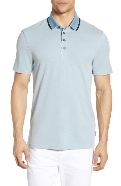 Image of Ted Baker London Muddy Soft Touch Tipped Polo Shirt