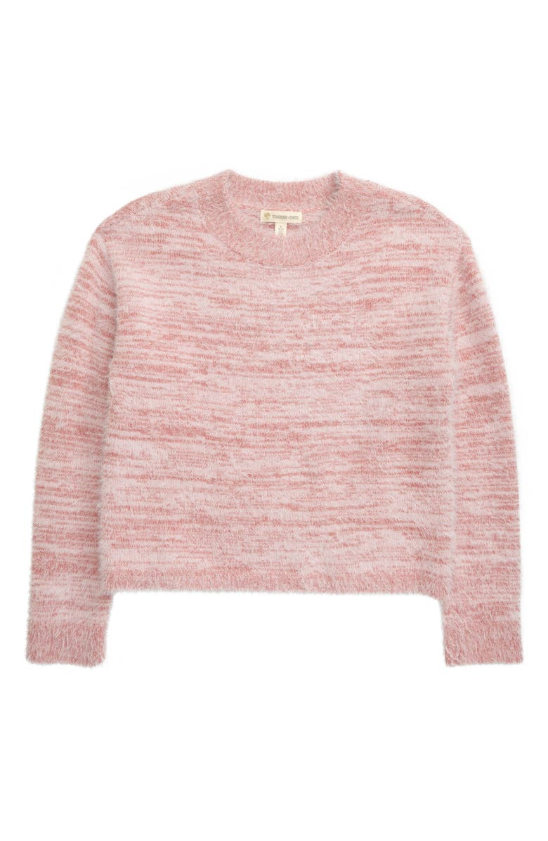 TUCKER + TATE Fluffy Sweater, Main, color, PINK ZEPHYR