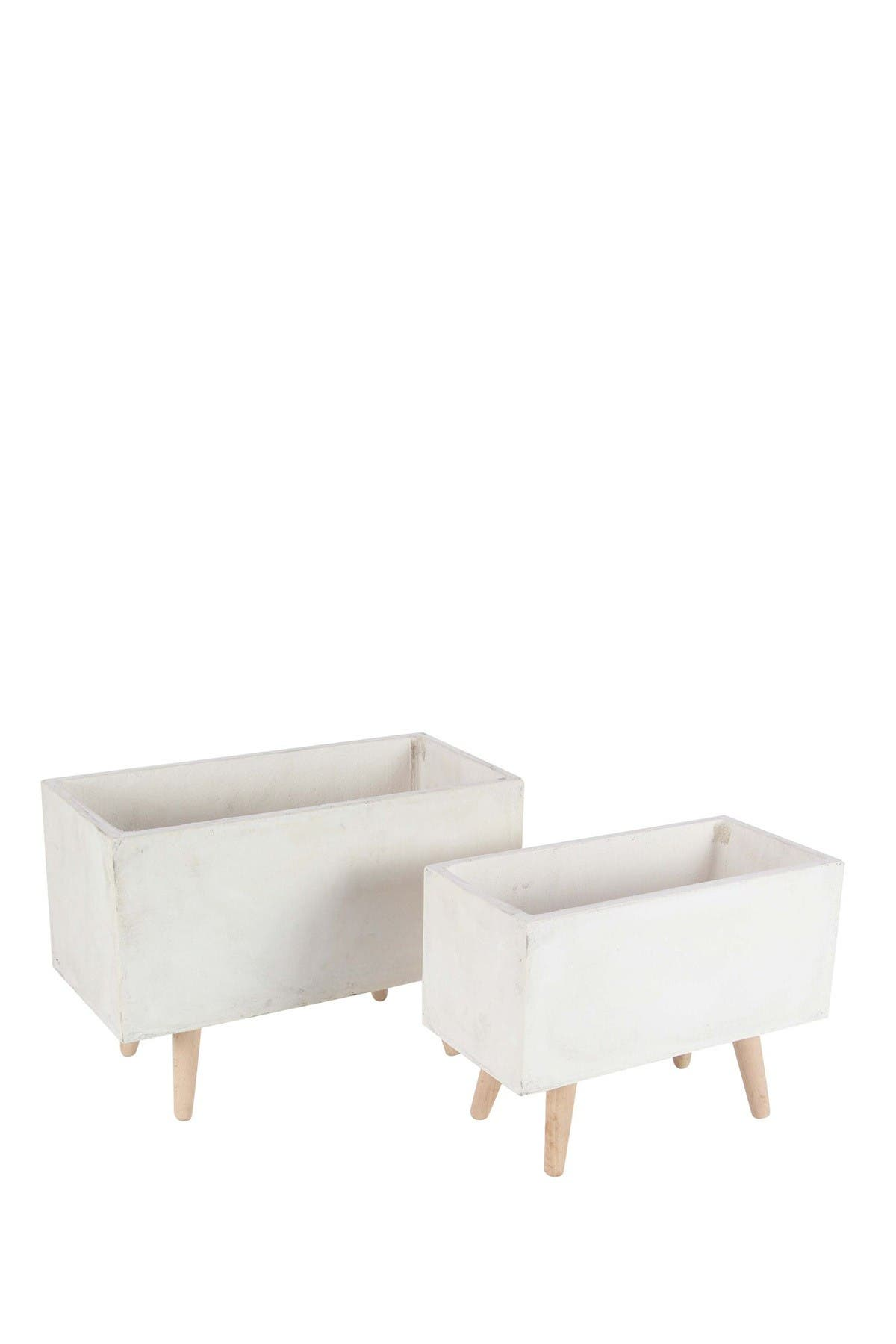 Image of Willow Row White Clay Planter - Set of 2