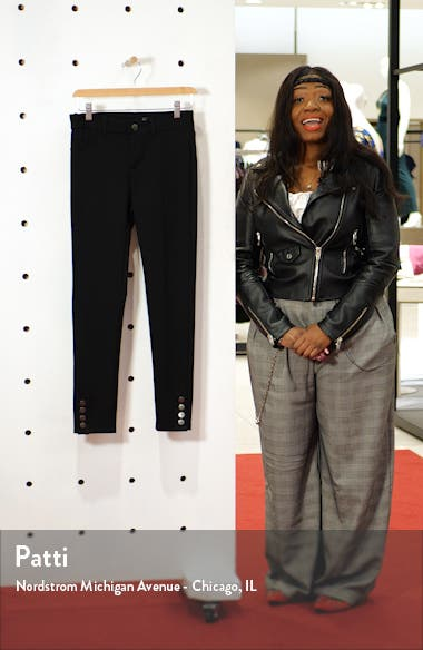 Button Hem Ponte Ankle Skinny Jeans, sales video thumbnail