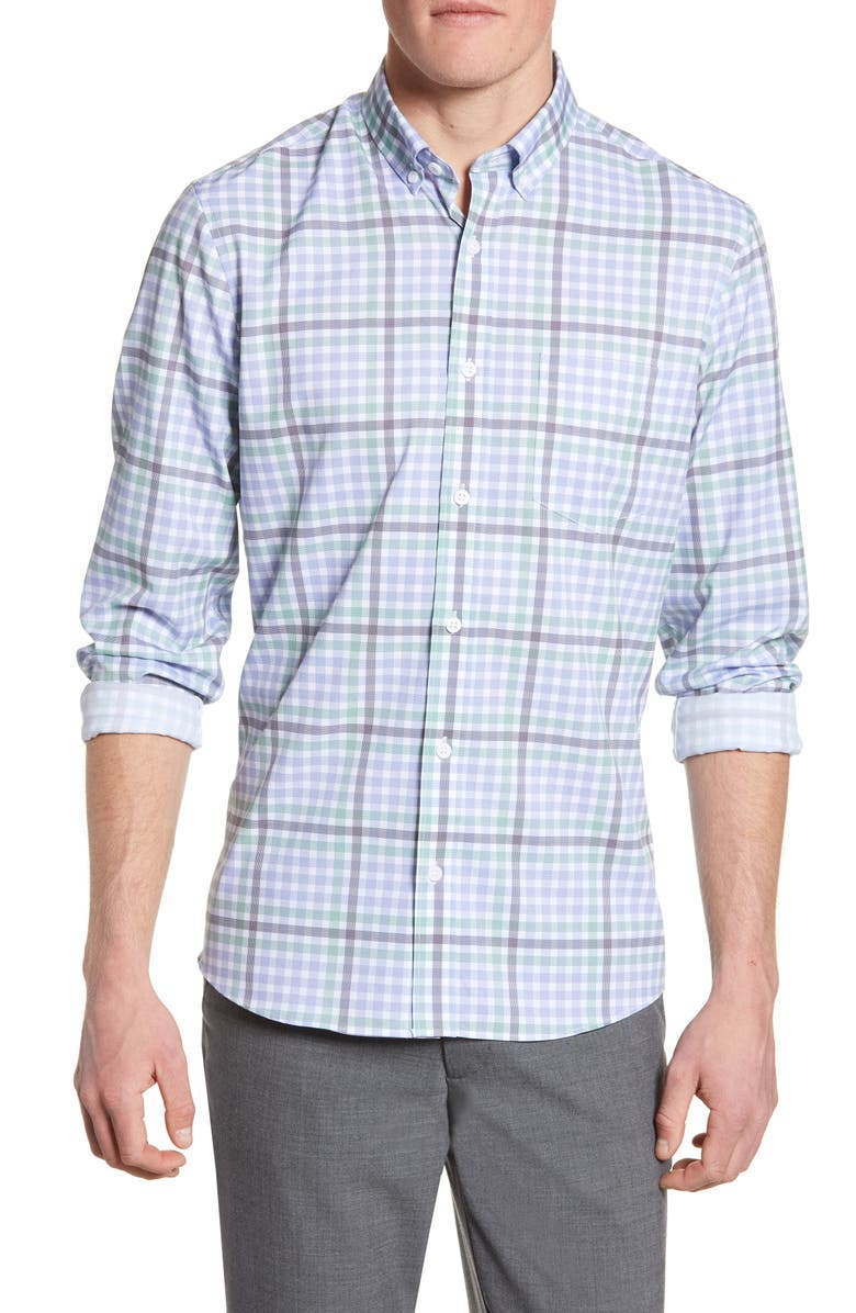 NORDSTROM MEN'S SHOP Tech-Smart Regular Fit Print Sport Shirt, Main, color, 100