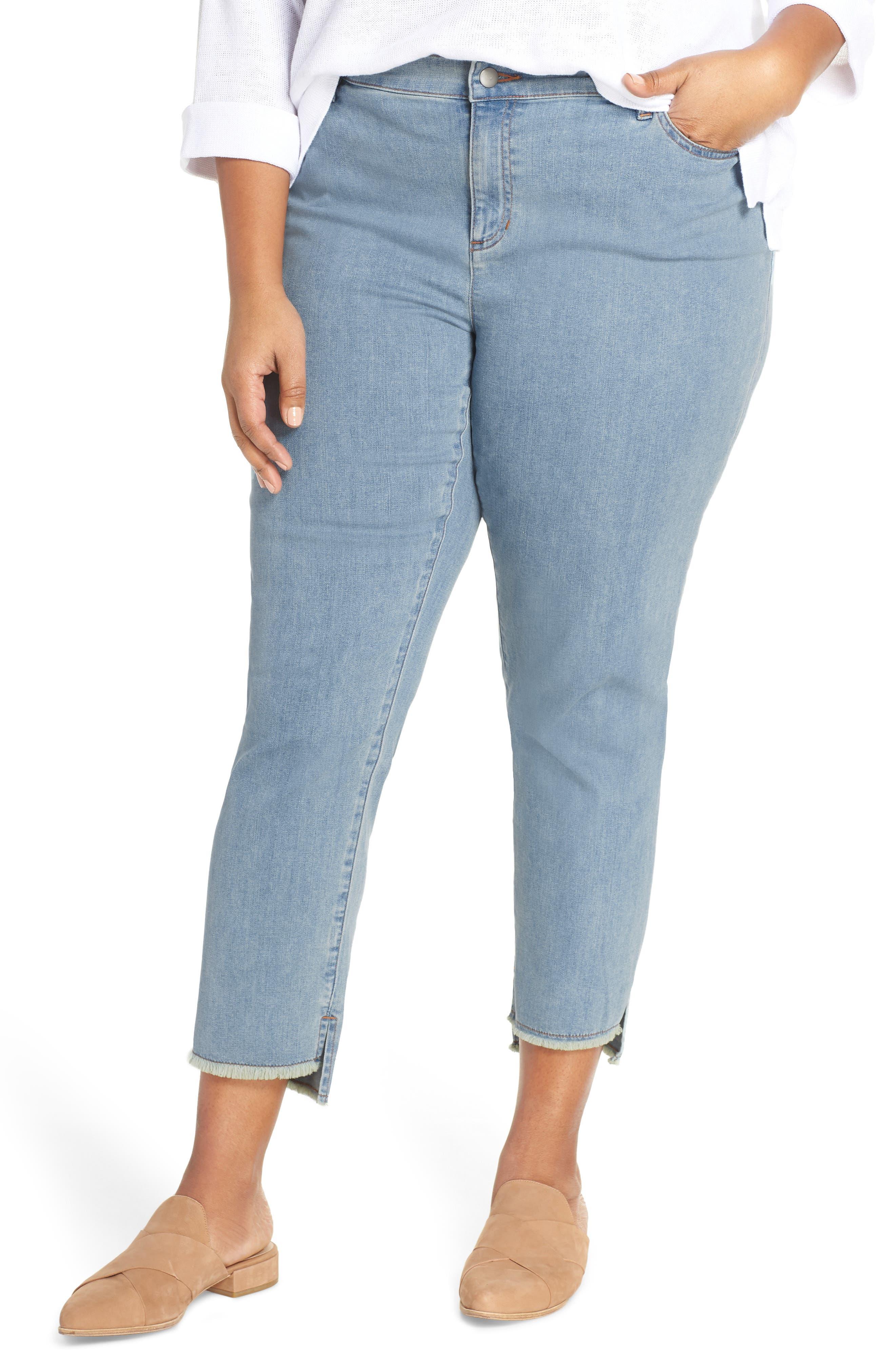 Fray Step Hem Ankle Skinny Jeans, Main, color, 472
