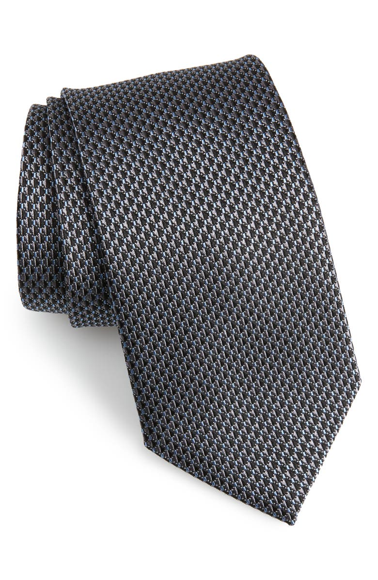 NORDSTROM MEN'S SHOP Solid Silk Tie, Main, color, BLACK