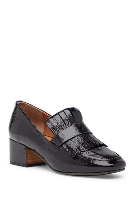 Image of GENTLE SOULS SIGNATURE Ethan Block Heel Leather Loafer
