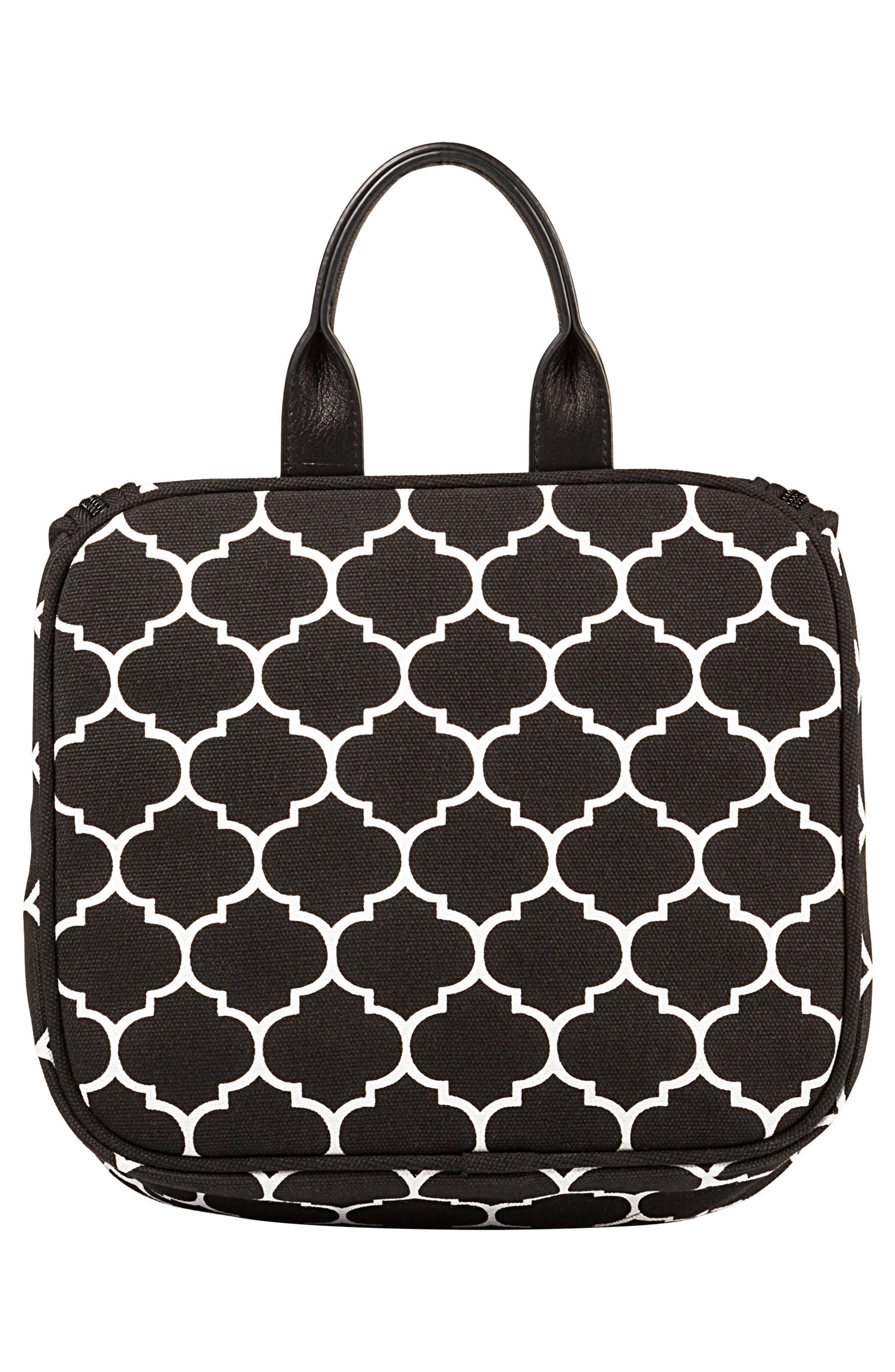 Monogram Travel Kit, Main, color, BLACK