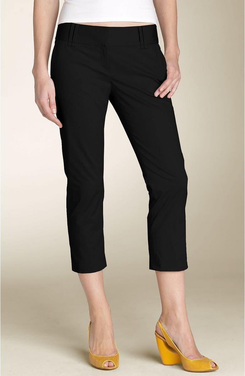 HALOGEN<SUP>®</SUP> Stretch Capri Pants, Main, color, BLK