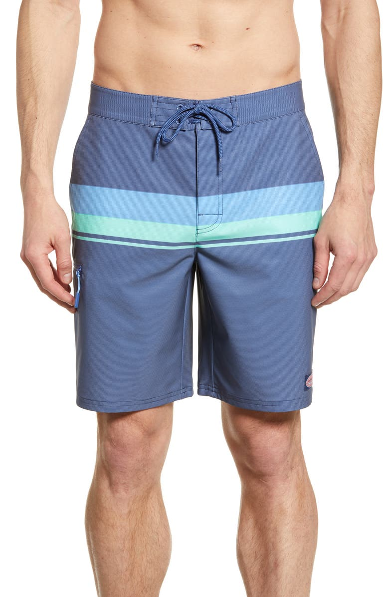 VINEYARD VINES Striped Board Shorts, Main, color, 359