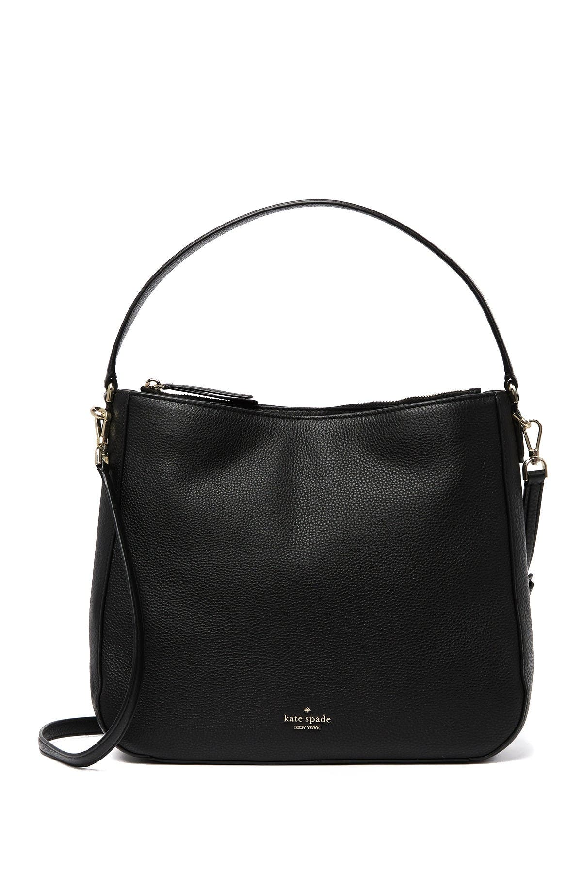 Image of kate spade new york jackson double compartment leather shoulder bag