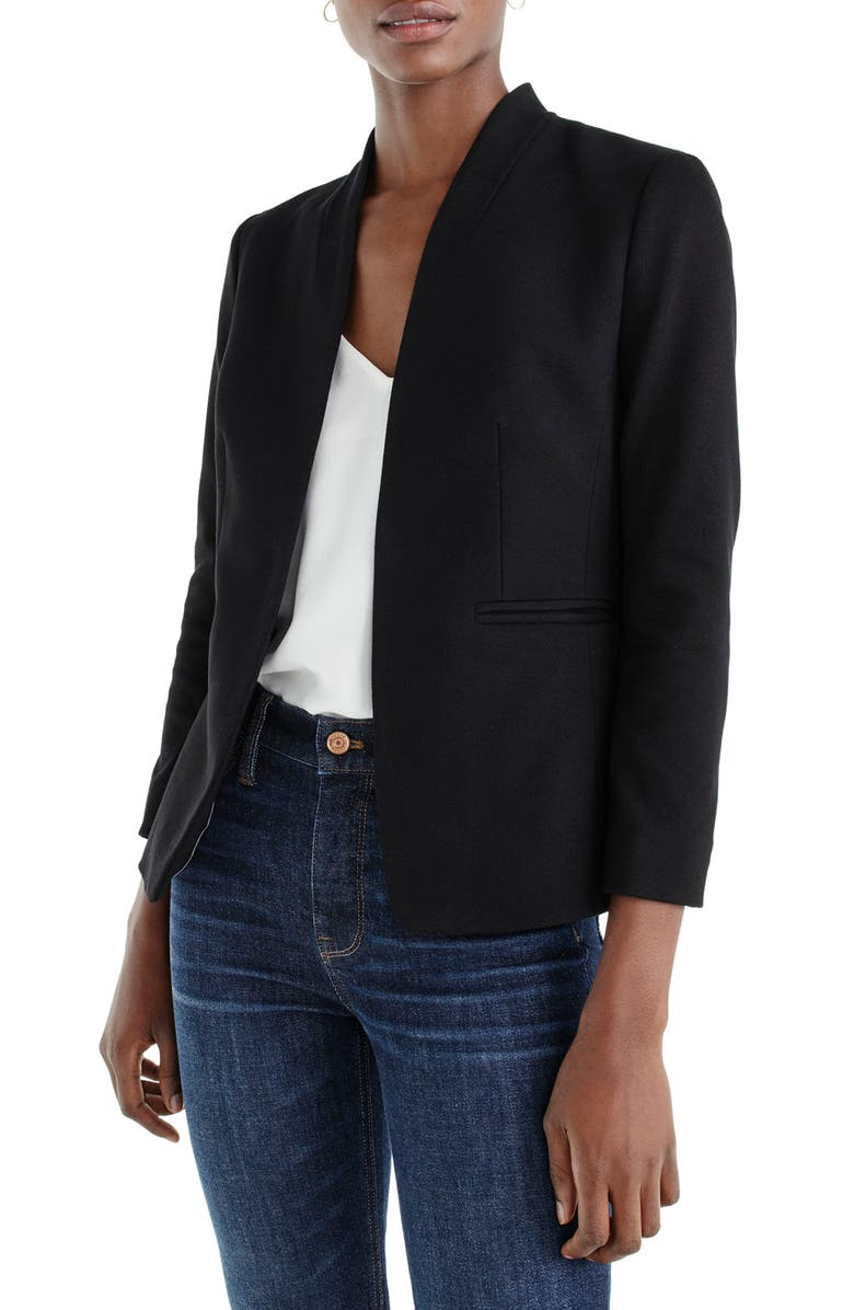 J.CREW Going Out Blazer, Main, color, BLACK