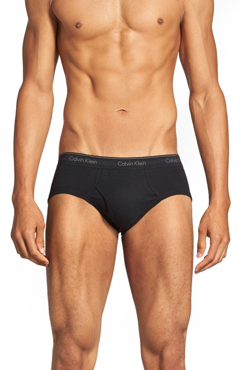 CALVIN KLEIN 4-Pack Low Rise Briefs, Main, color, 001