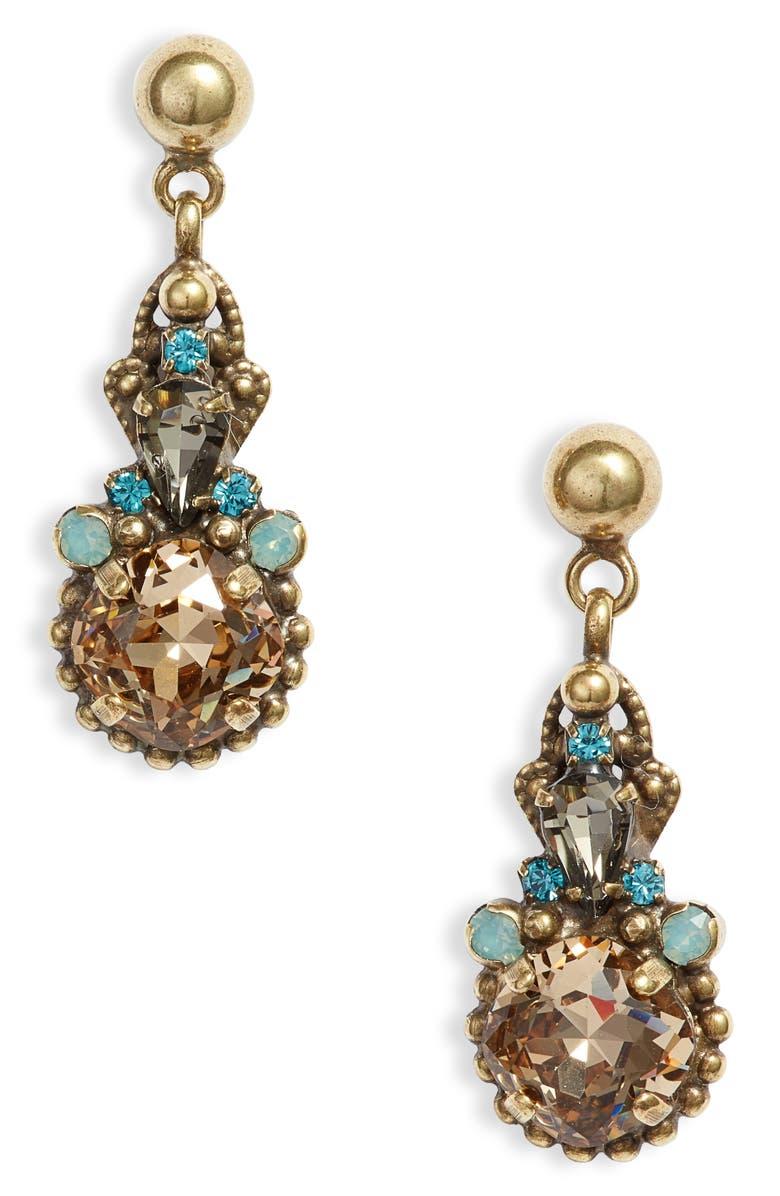 SORRELLI Driftwood Elowen Crystal Drop Earrings, Main, color, 710
