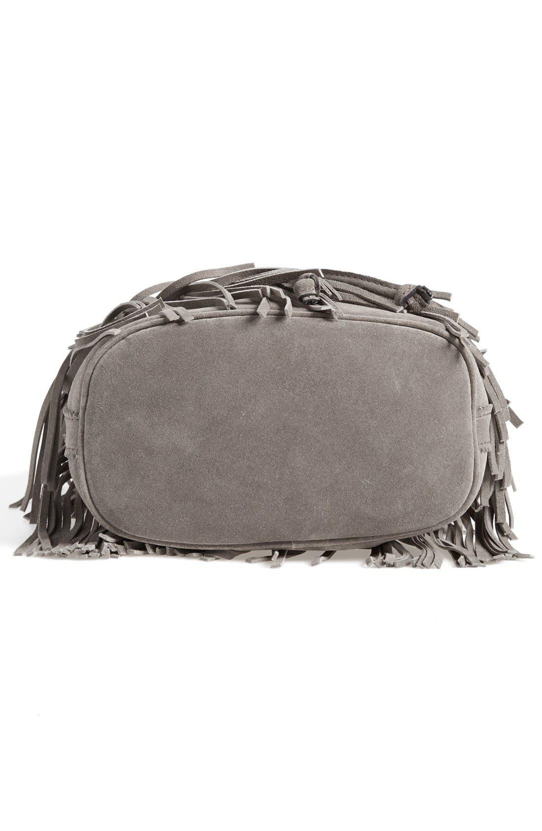 ,                             'Bronte' Fringe Bucket Bag,                             Alternate thumbnail 6, color,                             020